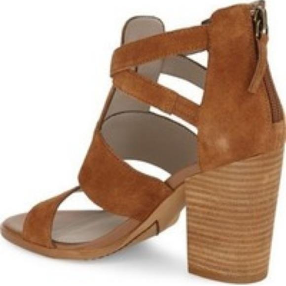 f3be7ee2854cf hinge Shoes - Hinge Cora Brown Suede Block Heel Sandal DSW